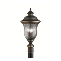 Kichler Lighting Sausalito 3 Light Outdoor Post Lantern in Olde Bronze 9932OZ