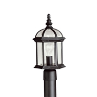 Kichler 9935BK Barrie 1 Light 16 inch Black Outdoor Post Lantern in Standard