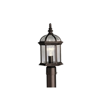 Kichler Barrie 1 Light Outdoor Post Lantern in Black 9935BKL16