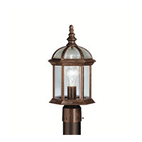 Barrie 1 Light 16 inch Tannery Bronze Outdoor Post Lantern in Standard