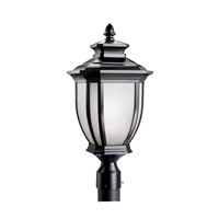 Kichler Lighting Salisbury 1 Light Outdoor Post Lantern in Black (Painted) 9938BK