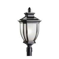 Kichler Lighting Salisbury 1 Light Outdoor Post Lantern in Black (Painted) 9940BK