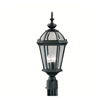 Kichler Lighting Trenton 3 Light Outdoor Post Lantern in Black (Painted) 9951BK