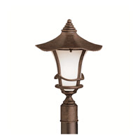 Kichler Lighting Cotswold 1 Light Outdoor Post Lantern in Aged Bronze 9954AGZ