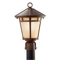 Kichler Lighting Melbern 1 Light Outdoor Post Lantern in Aged Bronze 9955AGZ photo thumbnail