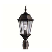 Kichler Lighting Madison 1 Light Outdoor Post Lantern in Black (Painted) 9956BK