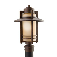 Kichler Lighting Creston 1 Light Outdoor Post Lantern in Aged Bronze 9959AGZ photo thumbnail