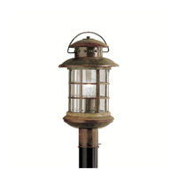 Kichler 9962RST Rustic 1 Light 19 inch Rustic Outdoor Post Lantern