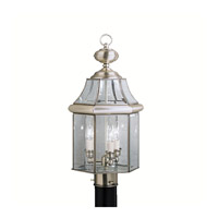 Kichler Lighting Embassy Row 3 Light Outdoor Post Lantern in Antique Pewter 9985AP photo thumbnail