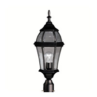 Kichler Lighting Townhouse 1 Light Outdoor Post Lantern in Black 9992BK