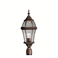 Kichler Lighting Townhouse 1 Light Outdoor Post Lantern in Tannery Bronze 9992TZ