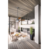 Kichler 310139WSP Lyndon Patio 52 inch Weathered Steel Powder Coat with Walnut Blades Ceiling Fan alternative photo thumbnail