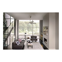 Kichler 330171NI Starkk 42 inch Brushed Nickel with SILVER/WALNUT Blades Ceiling Fan alternative photo thumbnail