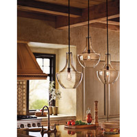 Kichler 42046OZ Everly 1 Light 14 inch Olde Bronze Pendant Ceiling Light in Clear Glass alternative photo thumbnail