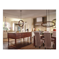 Kichler 43186AUB Grand Bank 5 Light 36 inch Auburn Stained Finish Linear Chandelier Ceiling Light  alternative photo thumbnail