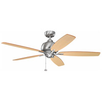 Richland 52 inch Brushed Stainless Steel with Medium Oak Blades Ceiling Fan