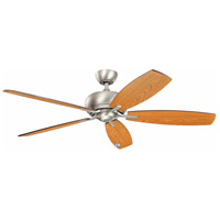Whitmore 60 inch Brushed Nickel with Cherry Blades Ceiling Fan