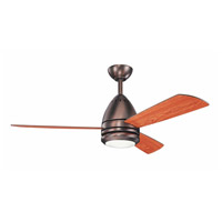 Eva 46 inch Oil Brushed Bronze with Cherry Blades Ceiling Fan