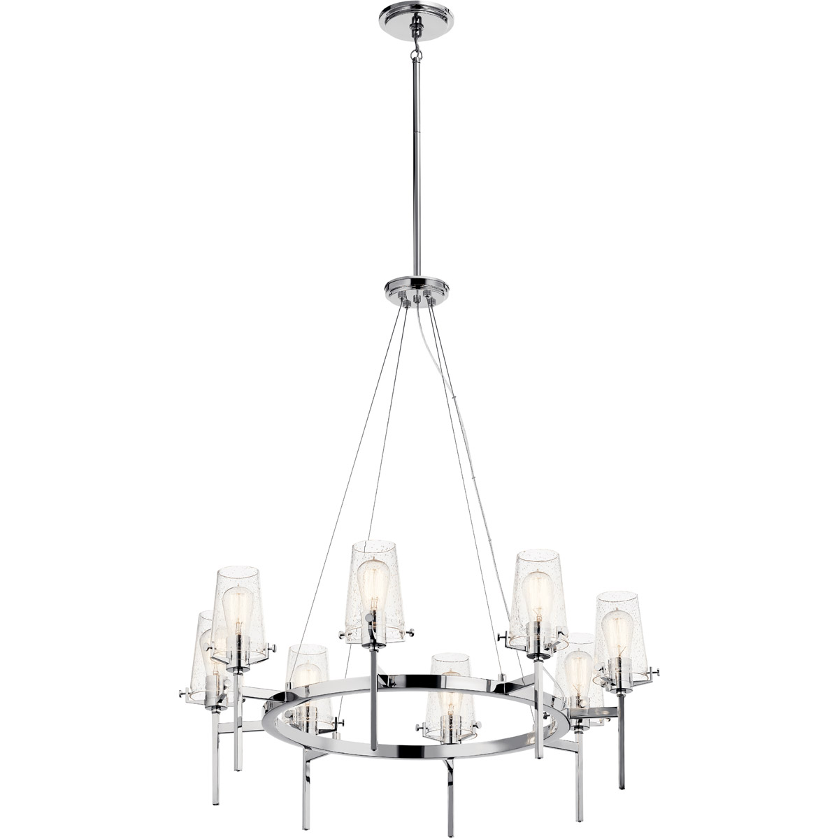 Details About Kichler Lighting 43695ch Alton 8 Light 38 Inch Chrome Chandelier Ceiling