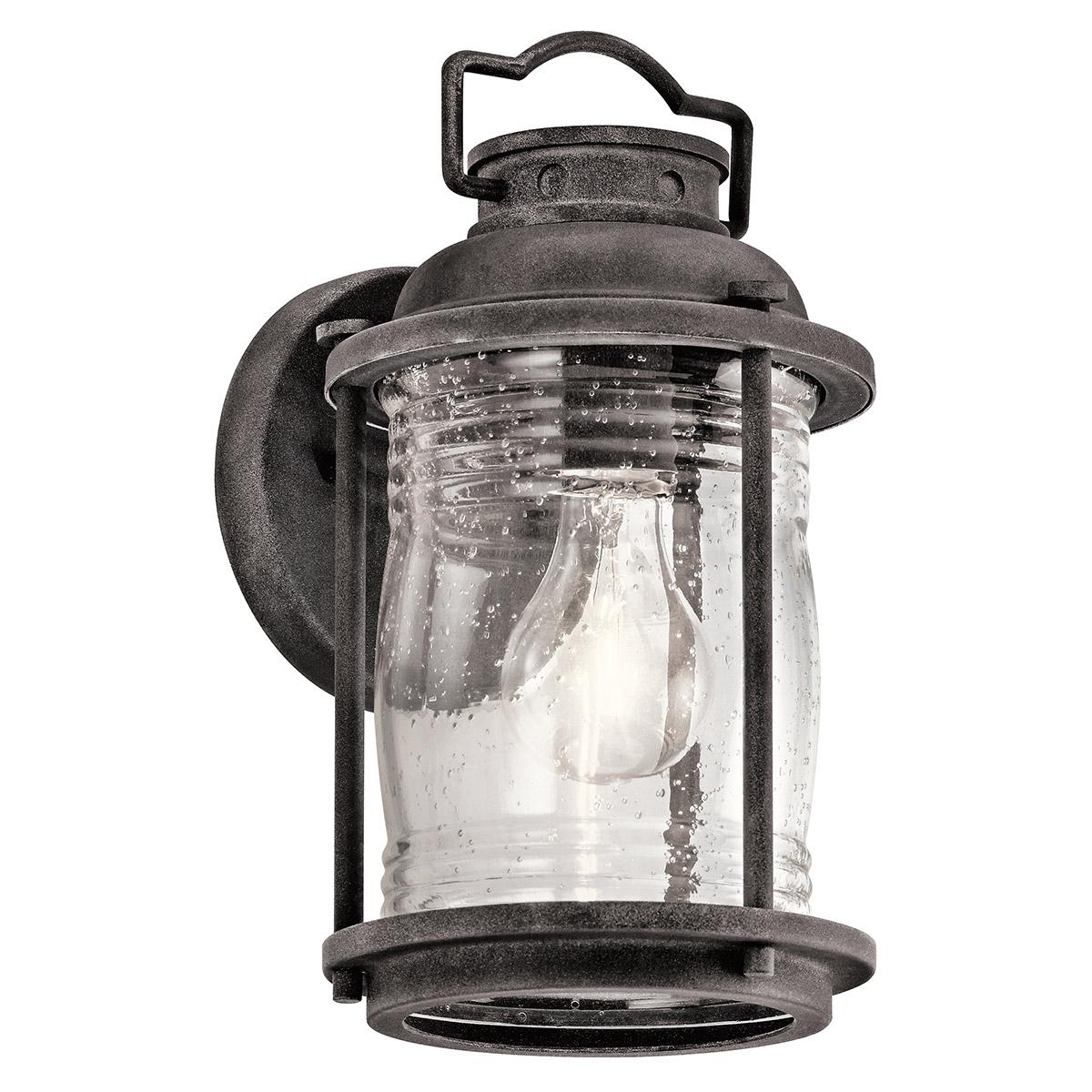 Ashland Pedestal Lantern In Weathered Zinc: Kichler Lighting 49569WZC Ashland Bay Outdoor Wall Lights