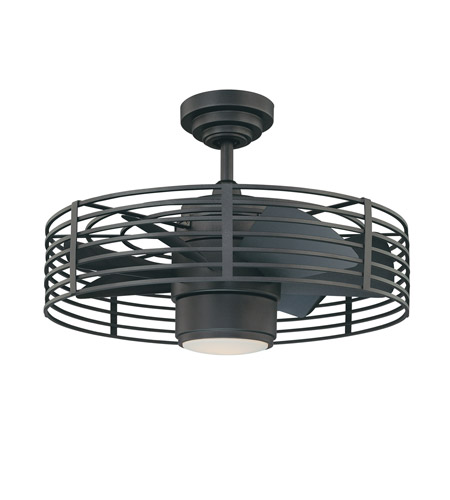 Kendal Lighting Ac17723 Ni Enclave 23 Inch Natural Iron Ceiling Fan