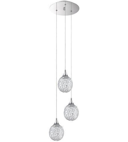 Kendal Lighting Pf40 3lpa Ch Solaro 3 Light 11 Inch Chrome Pendant Ceiling