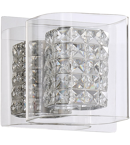 kendal lighting vf7400 1l ch crystorama 1 light 6 inch chrome vanity