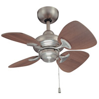 Kendal Lighting AC16324-SN Aires 24 inch Satin Nickel with Royal Walnut Blades Ceiling Fan