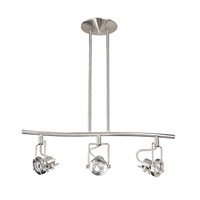 Kendal Lighting HPF4000-3L-SN Eris 3 Light Satin Nickel Rail Lighting Ceiling Light