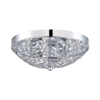 Kendal Lighting PF40-3LFL-CH Solaro 3 Light 12 inch Chrome Flush Mount Ceiling Light