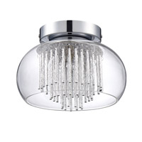 Kendal Lighting PF47-1LFL-CH Piccolo 1 Light 9 inch Chrome Flush Mount Ceiling Light