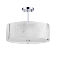 Kendal Lighting PF58-3L16-CH Glacier 3 Light 16 inch Chrome Convertible Ceiling Light
