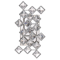 Milano 2 Light 7 inch Chrome Wall Sconce Wall Light