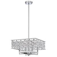 Kendal Lighting PF60-4L16-CH Milano 4 Light 17 inch Chrome Pendant Ceiling Light