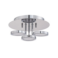 Kendal Lighting PF65-3LFL-CH Milan LED 11 inch Chrome Flush Mount Ceiling Light