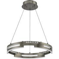 Kendal Lighting PF8724-BKS Satern LED 24 inch Black Stainless Pendant Ceiling Light