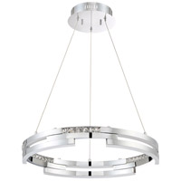 Kendal Lighting PF8724-CH Satern LED 24 inch Chrome Pendant Ceiling Light