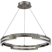 Kendal Lighting PF8730-BKS Satern LED 30 inch Black Stainless Pendant Ceiling Light
