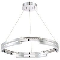 Satern LED 30 inch Chrome Pendant Ceiling Light