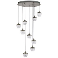 Kendal Lighting PF91-9LPA-BKS Arika LED 24 inch Black Stainless Pendant Ceiling Light