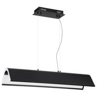 Kendal Lighting PF9636-BLK/CH Ultimor 36 inch Black/Chrome Pendant Bar Ceiling Light