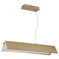 Kendal Lighting PF9636-OCB/CH Ultimor 36 inch Oilcan Brass/Chrome Pendant Bar Ceiling Light