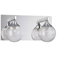 Kendal Lighting VF4100-2L-CH Fybra 2 Light 12 inch Chrome Vanity Light Wall Light