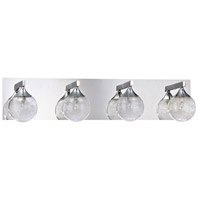 Kendal Lighting VF4100-4L-CH Fybra 4 Light 28 inch Chrome Vanity Light Wall Light