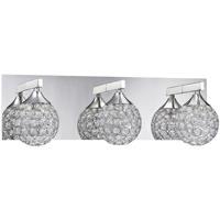 Kendal Lighting VF4200-3L-CH Crys 3 Light 20 inch Chrome Vanity Light Wall Light