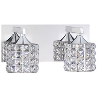 Kendal Lighting VF7100-2L-CH Lustra 2 Light 12 inch Chrome Vanity Light Wall Light