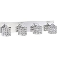 Kendal Lighting VF7100-4L-CH Lustra 4 Light 28 inch Chrome Vanity Light Wall Light