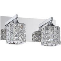 Kendal Lighting VF7200-2L-CH Shimera 2 Light 12 inch Chrome Vanity Light Wall Light
