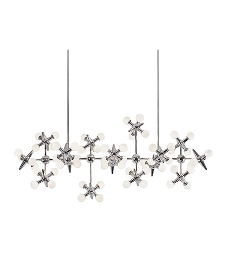 Kuzco Lighting CH51049-CH Jax LED 22 inch Chrome Chandelier Ceiling Light alternative photo thumbnail