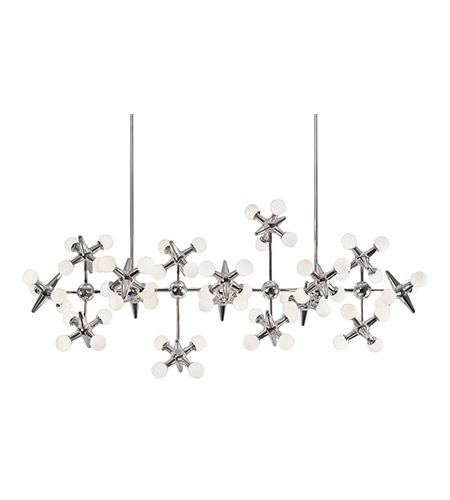 Kuzco Lighting CH51049-CH Jax LED 22 inch Chrome Chandelier Ceiling Light photo thumbnail